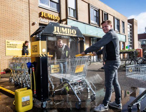 Primeur: winkelwagenwasstraat in Bathmen