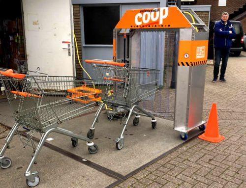 Coop Léon Haanstra heeft eigen winkelwagenwasstraat